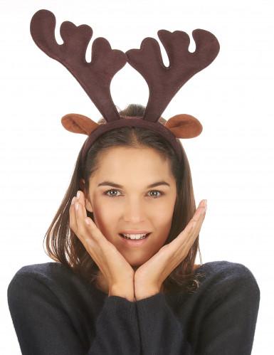 Serre-tête renne réaliste Noël-2