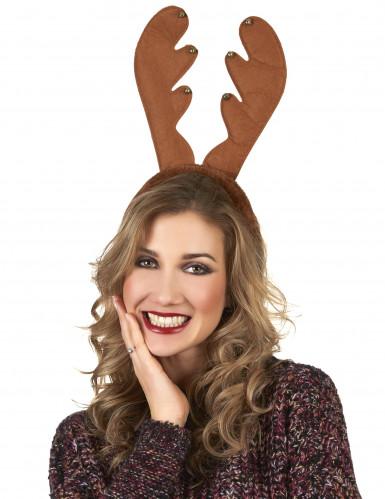 Serre-tête renne à grelots Noël