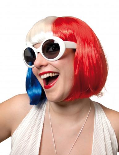 Perruque tricolore femme