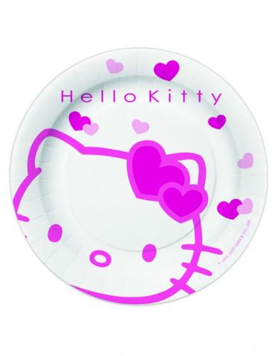 10 platos de postre de Hello Kitty?