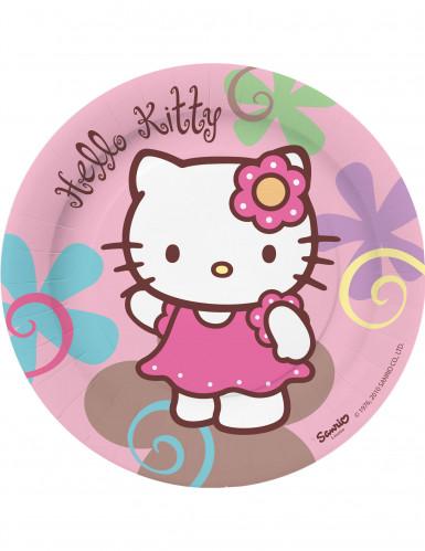 10 platos de postre de Hello Kitty Bamboo?