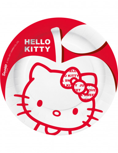 10 platos de postre Hello Kitty Apple?