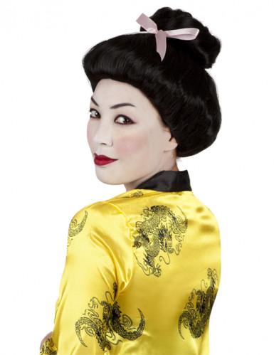 Perruque à chignon geisha noire femme