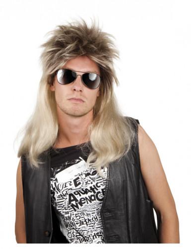 Perruque pop rock blonde homme