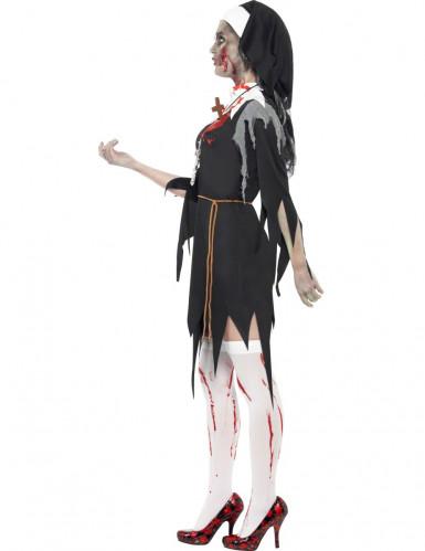 Déguisement zombie religieuse femme Halloween-1