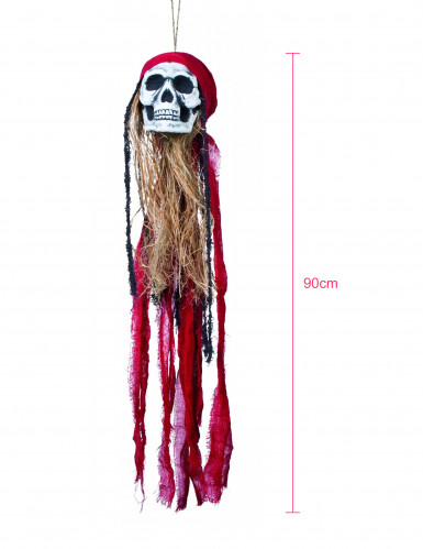 Décoration à suspendre tête de mort 90 cm-1