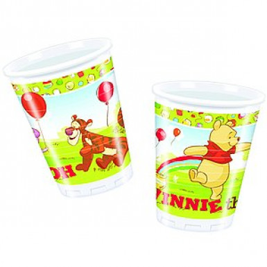 10 Vasos de plástico Winnie l'Ourson?