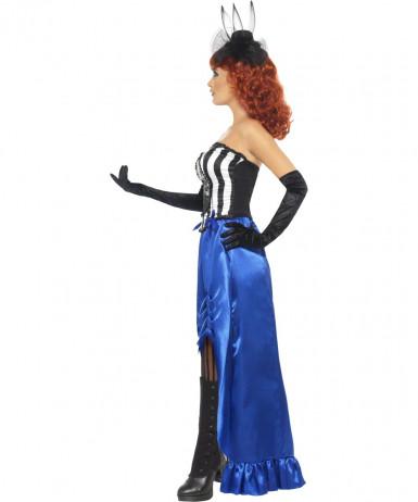 Déguisement cabaret squelette femme Halloween-2