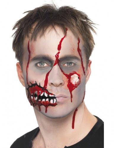 Kit maquillage zombie réaliste adulte Halloween-3
