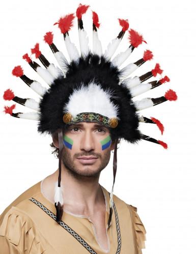 Coiffe d'indien à plumes adulte