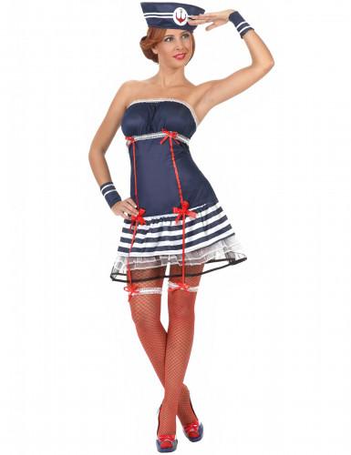 Déguisement marin sexy robe bustier femme
