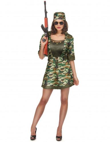 Déguisement militaire sexy robe courte femme