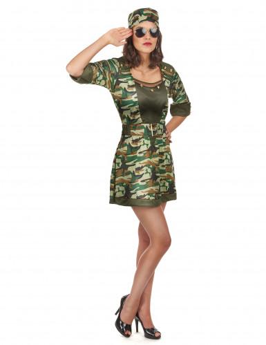 Déguisement militaire sexy robe courte femme-1