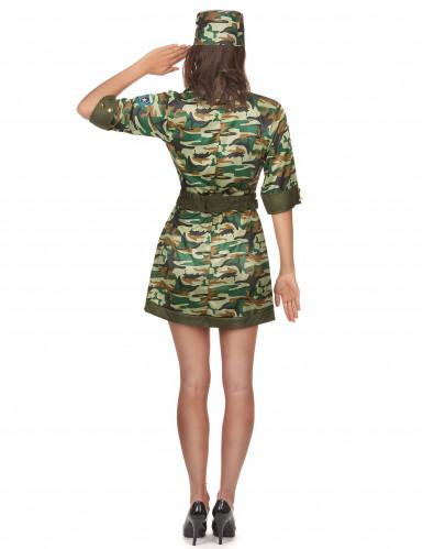 Déguisement militaire sexy robe courte femme-2