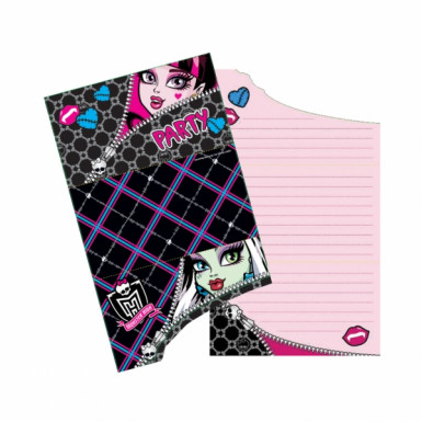 Cartes d'invitation Monster high™ Halloween