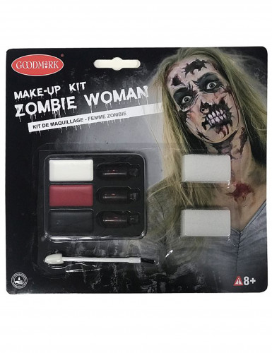 Kit maquillage zombie adulte femme Halloween-1