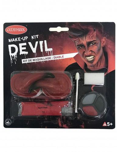 Kit maquillage démon adulte Halloween-1