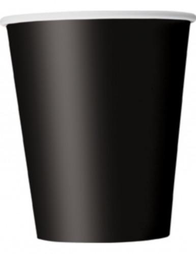 8 Gobelets en carton noirs 25 cl
