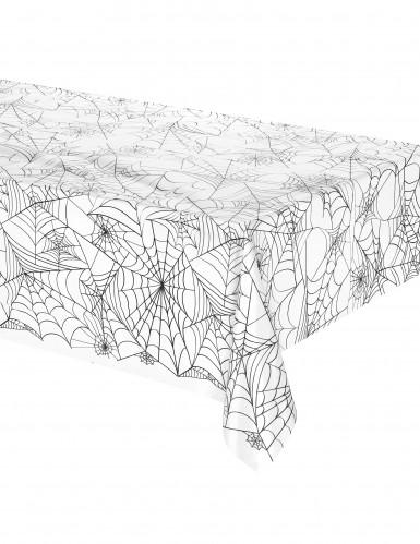 Nappe plastique toile d'araignée Halloween 137 x 274 cm