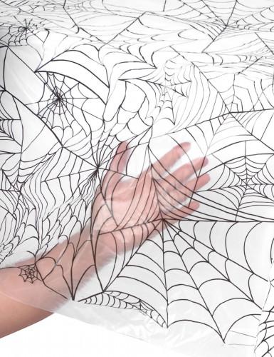 Nappe plastique toile d'araignée Halloween 137 x 274 cm-1