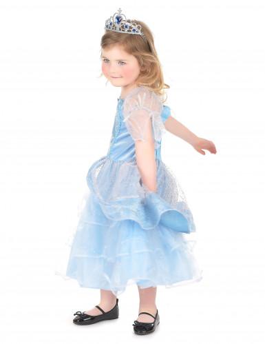 Déguisement princesse enfant bleu clair-1