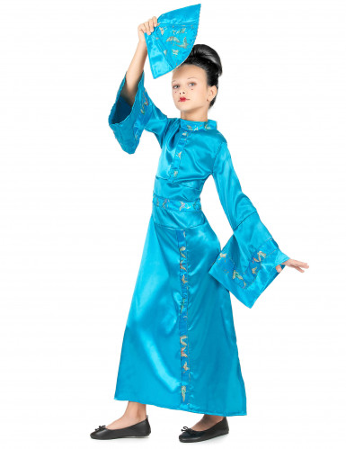 Déguisement chinoise bleue fille-1