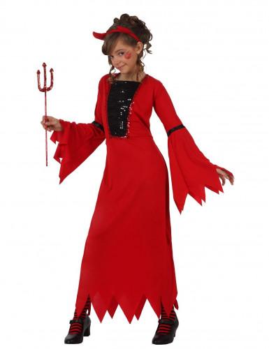 Déguisement diablesse à paillettes enfant Halloween