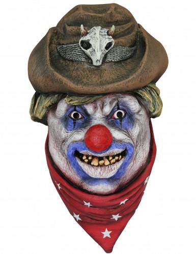 Masque clown cowboy adulte Halloween