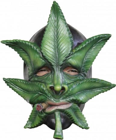 Masque feuille de cannabis adulte