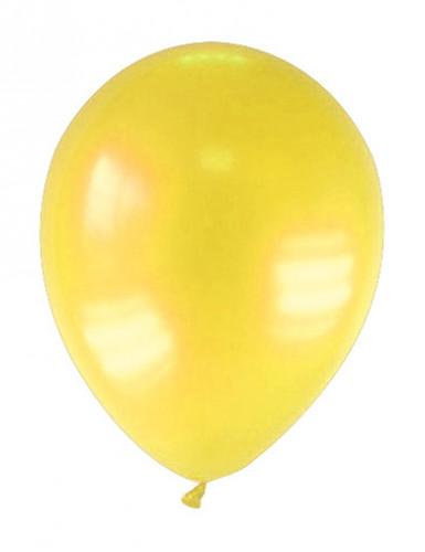 12 Ballons métallisés jaunes 28 cm