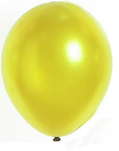 100 Globos metálicos de color amarillo 29 cm