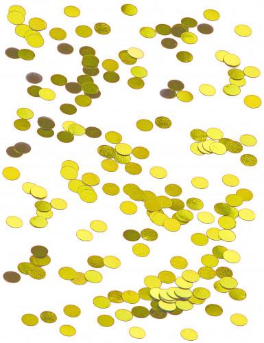 Petits confettis de table ronds dorés 0,6 cm