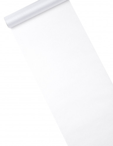 Chemin de table organza brillant blanc 28 cm x 5 m