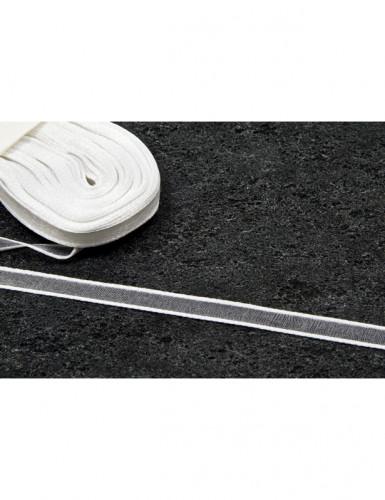 Ruban fin en organza blanc 10 m