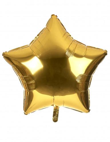 Ballon en aluminium géant étoile dorée 80 cm