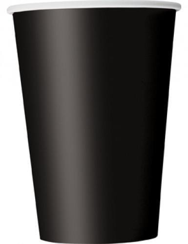 10 Gobelets en carton noirs 355 ml