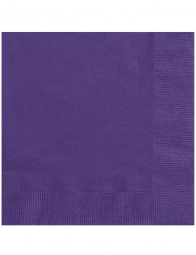 20 Serviettes en papier violet sombre 33 x 33 cm
