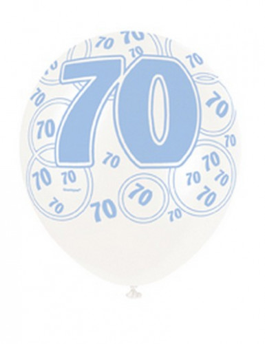 Ballons bleus Age 70 ans