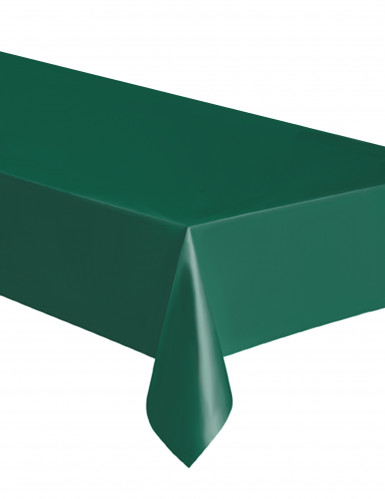 Nappe rectangulaire en plastique vert foncé