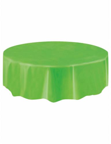 Nappe ronde en plastique vert citron-1