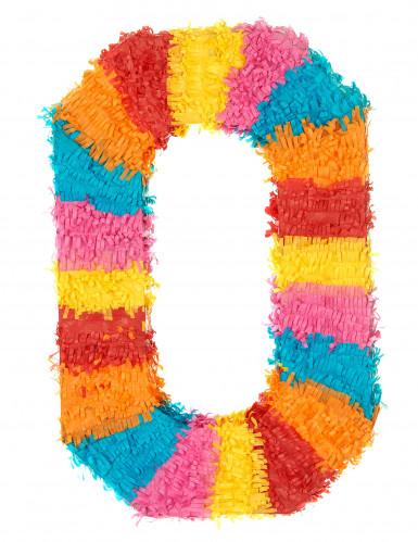 Piñata du chiffre 0 55 x 25 cm