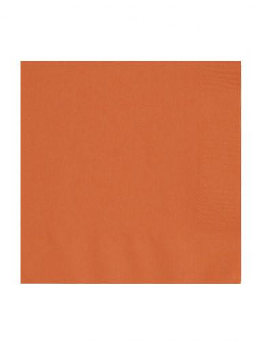 50 Serviettes en papier orange 33 x 33 cm