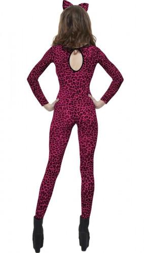 Déguisement léopard femme rose-1