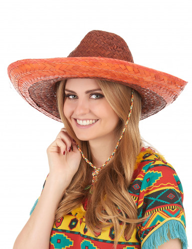 Sombrero mexicain orange adulte-2