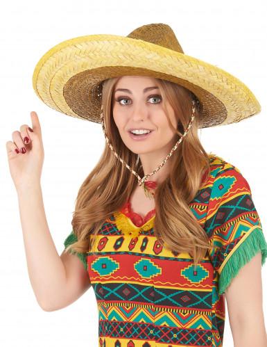 Sombrero mexicain jaune adulte-2