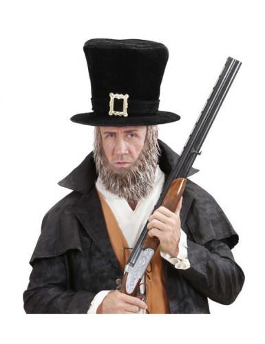 Chapeau haut de forme avec barbe adulte