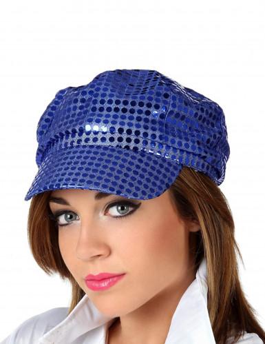 Casquette disco bleu adulte