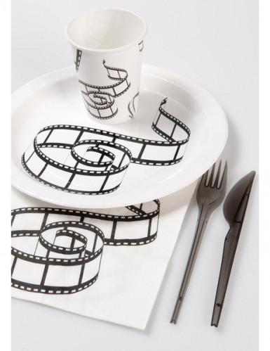 20 Serviettes en papier de table Cinéma 33 x 33 cm-2