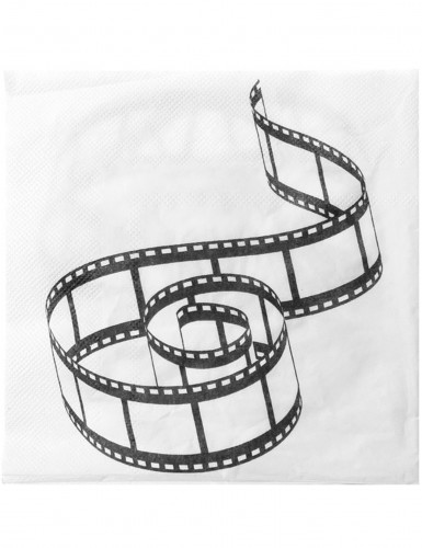 20 Serviettes en papier de table Cinéma 33 x 33 cm