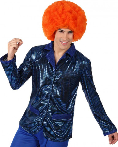 Blaue Disko Jacke f�r Herren